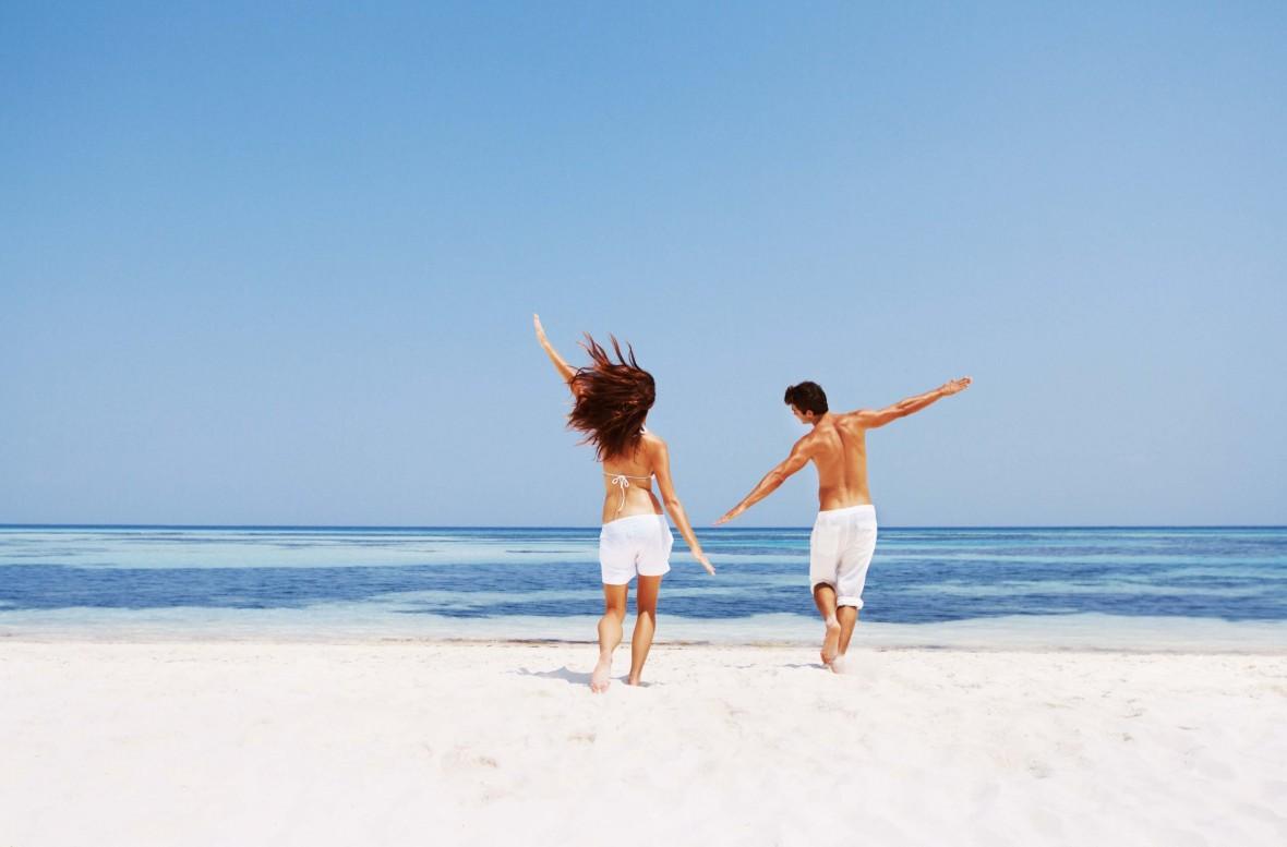 Carefree couple enjoying themselves on holiday